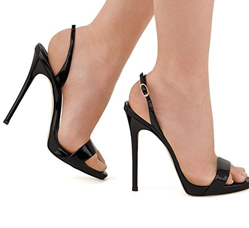 Robe 35 Femmes À Club 44 Escarpins eu44 Party Chaussures Black Stiletto Taille Sandales Xie UFwWzIqvw