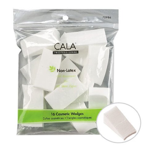 Cala Professional Non-latex Oil Resistant Cosmetic Wedges 16 Pieces Make-up Sponge Wedges