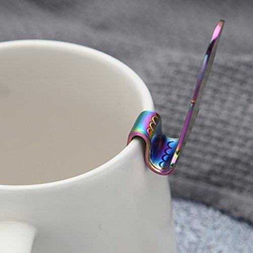 Lwestine 4Pcs Stainless Steel Dessert Spoon, Mermaid Coffee Spoons, Leisurely Afternoon Tea Time by Lwestine (Image #5)