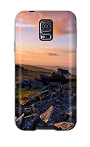 Premium Galaxy S5 Case - Protective Skin - High Quality For Sunset Earth Landscape Nature Landscape