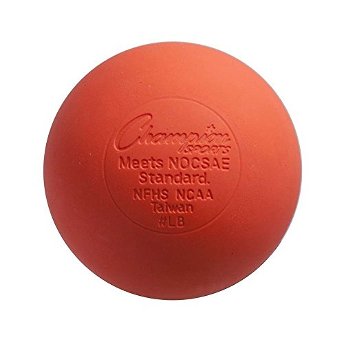 Champion Sports Colored Lacrosse Balls: Orange Official Size Sporting Goods Equipment for Professional, College & Grade School Games, Practices & Recreation - NCAA, NFHS and SEI Certified - 1 Pack
