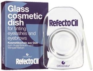 Refectocil plato de cristal cosmética para Tinte Pestañas y Cejas, 1er Pack (1 x 117 g)