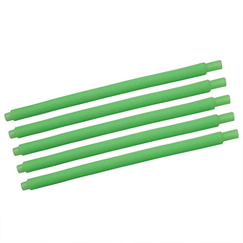 HowLoo Innovative Whistle Straw 10pc Manual Personality Variety Style Music Straw Disposable PP Plastic Straw (Green) -