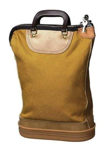PM Company Securit Security Mail Bag with Zipper Closure, Pop Up Lock and 2 Keys, 18 x 24 Inch, Gold (04645) by PM Company