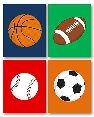 Sports Decor, Art for Boys Room, Sports Art for Kids, Sport