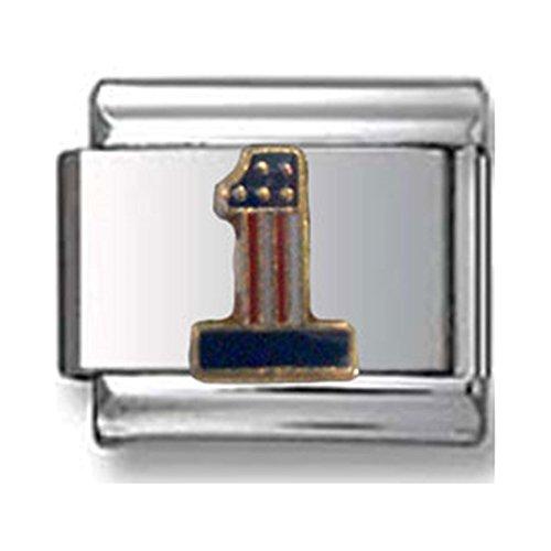 1 American Flag Italian Charm