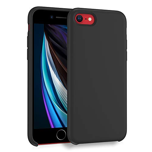 ORNARTO Liquid Silicone Case for iPhone SE(2020), iPhone 7/8 Slim Liquid Silicone Soft Gel Rubber Case Cover for iPhone…