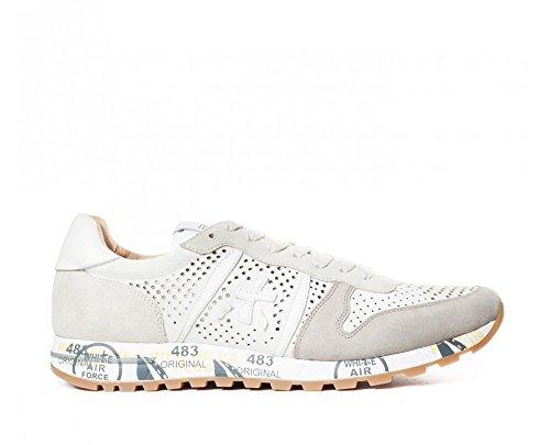 Premiata Mens Eric3139 Wit / Grijze Stof Sneakers