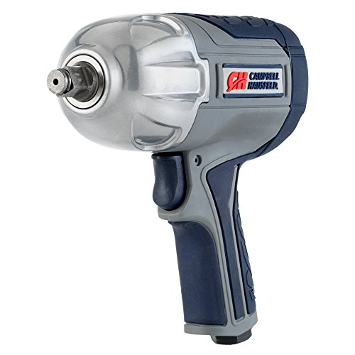 Campbell Hausfeld XT002000 Air Impact Wrench Twin Hammer Impact Driver with Composite Body and Comfort Grip, 1/2
