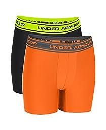 Under Armour Boys\' UA Original Series Boxerjock 2-Pack Youth Large Big / 14-16 Blaze Orange