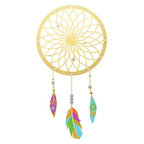 DREAM CATCHER Flash Tattoos variety set of 25 assorted boho premium waterproof colorful gold temporary jewelry tats