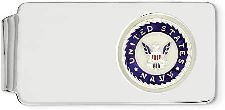 Sterling Silver U.S Navy Engravable Money Clip