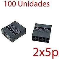 x100 Carcasa conector Dupont 2x5p 2x5 2.54mm plastico
