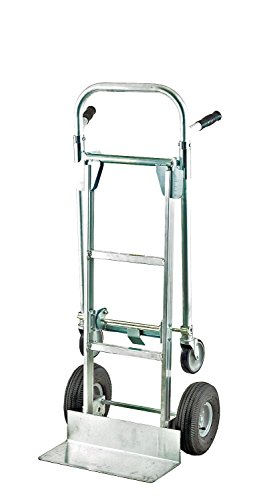 Harper Trucks 850 lb Capacity Aluminum Convertible Hand Truck and Dolly with 10