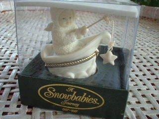 - Snowbabies Porcelain Hinged Box
