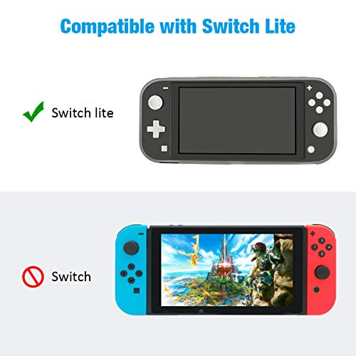 Protective Case Cover for Nintendo Switch Lite, NTCON Soft TPU Grip Case Anti-Scratch Shock-Absorption Case Cover for Nintendo Switch Lite 2019 - Transparent