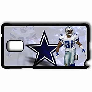 Personalized Samsung Note 4 Cell phone Case/Cover Skin American football dallas cowboys nfl 2013 desktop Black