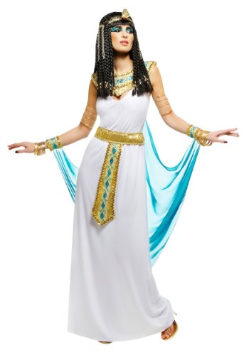 [Queen Cleopatra Costume -  White Medium] (Ancient Egyptian Halloween Costumes)