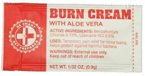Guardian GDFABC Burn Cream with Aloe Vera - 100 Packets by Guardian Survival