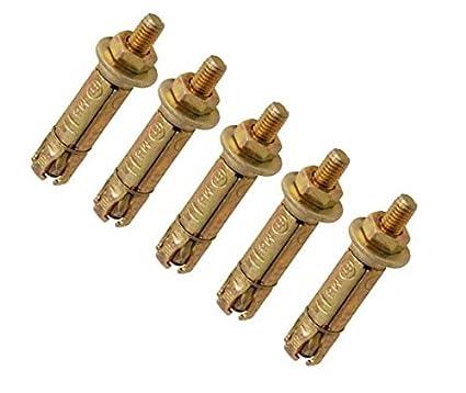 Ahc k-zysapb625b5 M6 x 25 mm, sporgente scudo Anchor –  zinco/giallo (confezione da 5) sporgente scudo Anchor-zinco/giallo (confezione da 5)