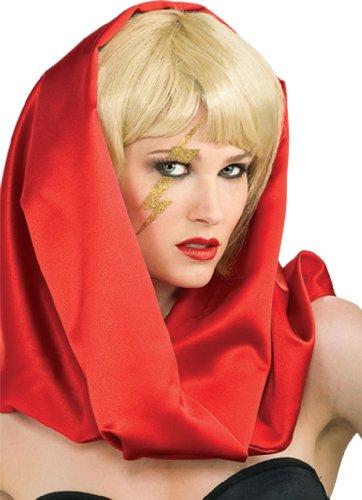 Rubie's Lady Gaga Gold Lightning Bolt Decal 9975 (Lady Gaga Costume Halloween)