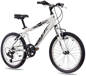 20 pulgadas aluminio Mountain Bike Bicicleta infantil KCP Street con 6 velocidades Shimano Blanco: Amazon.es: Deportes y aire libre