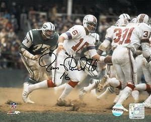 Jim Plunkett Signed Autograph New England Patriots 8x10 Photo - Autographed NFL Photos