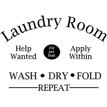 laundry room help wanted apply within wash dry fold repeat door decal sticker for walls or