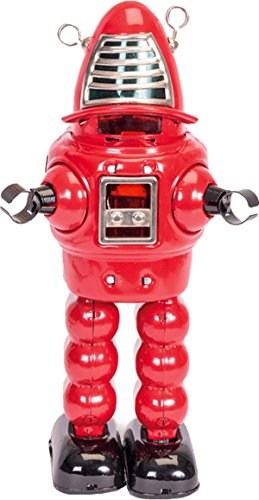 Planet Robot Tin Walks Forwards & Face Sparks Detailed Body Work Toy For Kids