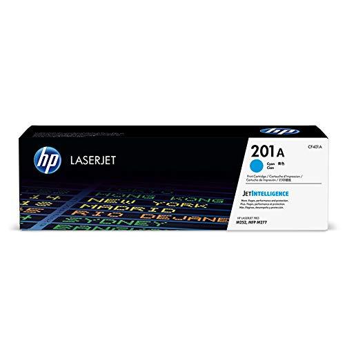HP 201A (CF401A) Toner Cartridge, Cyan for HP Color Laserjet Pro M252dw M277 MFP M277c6 M277dw MFP 277dw (Cyan Toner Cartridge Media)