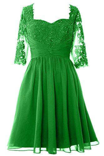 Gown Green Dress Lace Mother Sleeves Macloth Formal Bride Of Wedding Midi Half Women RHWqTq4Xc