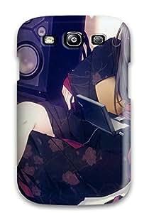 Excellent Design Headphones Dress Lying Down Phone Case For Galaxy S3 Premium Tpu Case