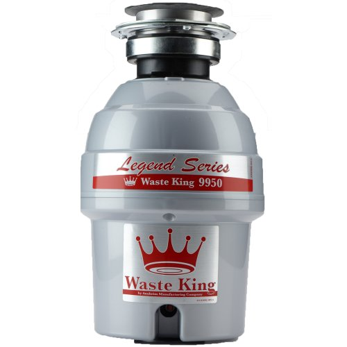Waste King Legend Series 3/4 HP Continuous Feed Garbage Disposal with Power Cord - (9950)