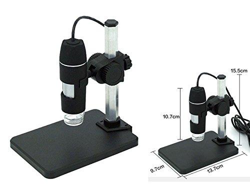 USBマイクロスコープ 500倍 USB顕微鏡 デジタル マイクロスコープ 台座固定スタンド付き 電子顕微鏡MICROSCOPE-02-L51014