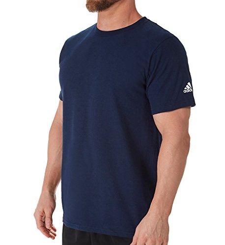 adidas Adult Short Sleeve Logo T-Shirt Navy Large