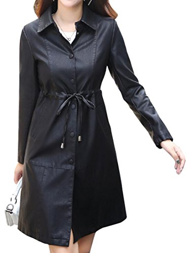 Leather Belted Coat - 9