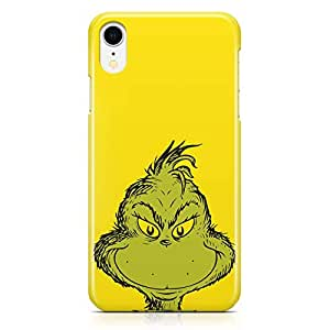Loud Universe Face of Grinch iPhone Xr Case Green Cat iPhone Xr Cover with 3d Wrap around Edges