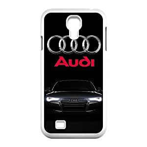 Back Skin Case Shell Samsung Galaxy S4 I9500 Cell Phone Case White Audi Arhis Pattern Hard Case Cover