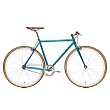 State Bicycle A796201615807 Beorn Blue-Fixie Single Speed/Fixed Gear Bike, 54cm, Medium 54 Teal