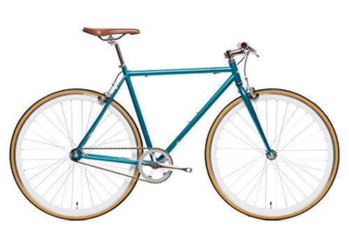Beorn Blue Core-Line State Bicycle | Fixie Single Sped Fixed Gear Bike - Beorn (Metallic Blue) Large (58 cm)