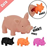 #4: Funny Squeeze Toys,WM & MW Cute Shrilling Pig Squeaky Rubber Pig Toy Stress Relief Toy Random