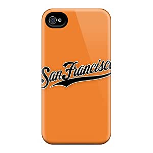 Tpu Case Cover Compatible For Iphone 4/4s/ Hot Case/ Baseball San Francisco Giants 2