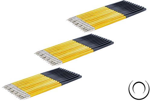 EMIYA Aluminum Bolt Arrows for 50LB to 80LB Crossbow Pistols 36 Pack
