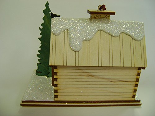 Ginger Cottages - Santa's Ski Lodge GC126, Miniature Collectable building for Christmas and holiday displays. Wood table top display or ornament. Hand crafted in the Richmond Virginia, USA area. by Ginger Cottages (Image #4)