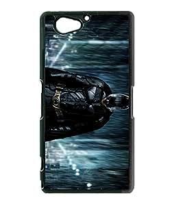 Cool DC Comics Sony Xperia Z2 Compact Funda Case Batman The Dark Knight Rises [Perfect-Fit] Premium Hard Plastic Rugged Funda Case And Cover