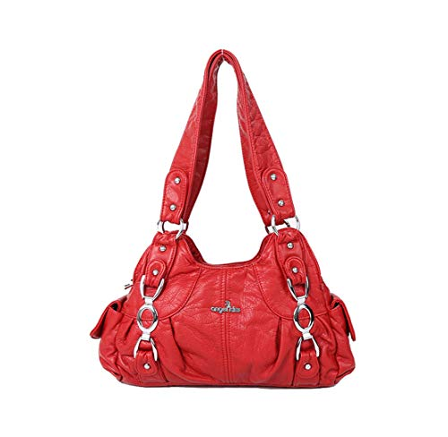 Moda Donna Messenger Rosso Comodi Semplice Spalla Cerniera Morbido Resistenti Layxi Tote Borse Impermeabili Elegante 6qw6P