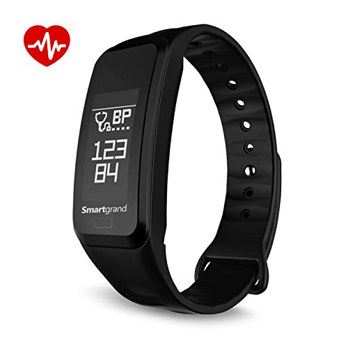 (Smartgrand Fitness Tracker Smart Watch Bluetooth Waterproof Sport Pedometer Life Reminder Sleep Monitoring Lightweight Business Wristband Blood Pressure Bluetooth 4.0 for Android and iOS Y11 Black)