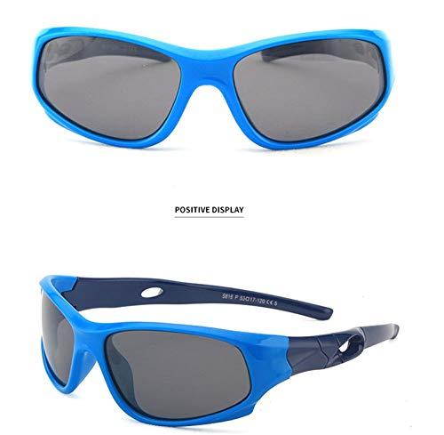 Jiaxingo Gafas de Sol polarizadas para niños de Goma Azul ...