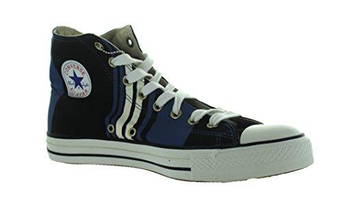 Converse Mens Chuck Taylor All Star Club Hi Nero / Blu Scarpe Da Ginnastica Us 10