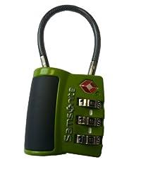 Samsonite Luggage 3 Dial Tsa Cable Lock, Neon Green, International Carry-on
